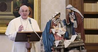 Попри проблеми зі здоров'ям: Папа Римський виступив із новорічною молитвою