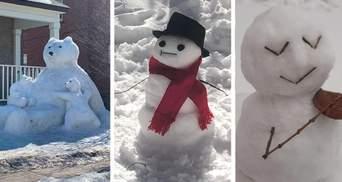 Як це можливо: 20 шалено кумедних сніговиків із усього світу – фото