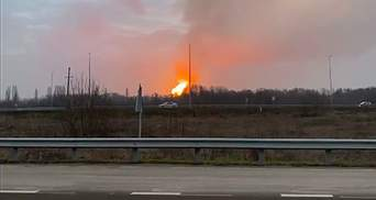 На Полтавщине произошел взрыв из-за аварии на газопроводе: видео