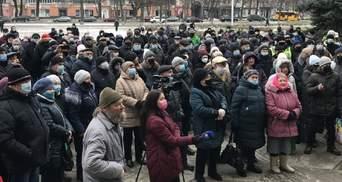 Украинские города продолжают протестовать против новых тарифов на газ: фото