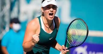 Марта Костюк проиграла первый сет 0:6, но победила и вышла в полуфинал турнира в Абу-Даби