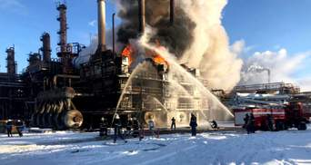 Хімзавод знову горів у Калуші на Прикарпатті: пожежу гасили пів сотні вогнеборців