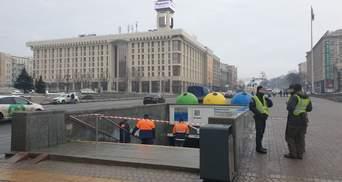 У переході під Майданом Незалежності обвалилася стеля: фото