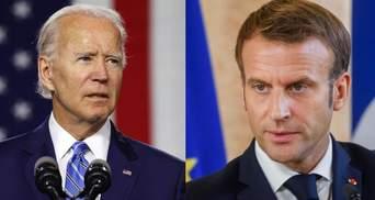 Укрепление НАТО и борьба с пандемией: детали разговора Байдена с Макроном