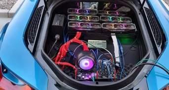 Американець добуває криптовалюту в багажнику BMW i8: вражаючі фото