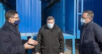 В Мариуполе началось строительство 345 кислородных точек