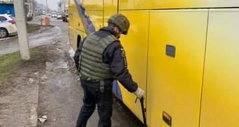 На Харьковщине искали взрывчатку в автобусе, который вез сторонников ОПЗЖ