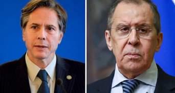 Блинкен и Лавров обсудили российскую военную агрессию на Донбассе