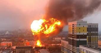 Велика пожежа на складі фарб сталася в Москві: є потерпілі, зокрема діти – відео