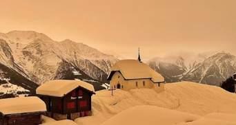 Чехию и Словакию покрыл цветной снег: какая причина уникального явления – фото