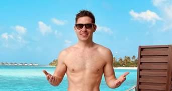 Какой вы фрукт: Владимир Остапчук заинтриговал голым фото на Мальдивах