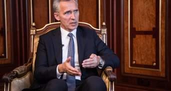 Генсек НАТО призвал Россию вывести войска из Украины