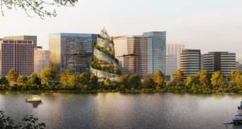 Впечатляющее пространство и эко потребление: новая штаб-квартира Amazon в форме спирали – фото