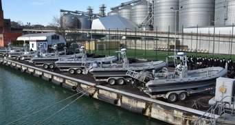 Українські моряки отримали американські швидкісні катери: фото