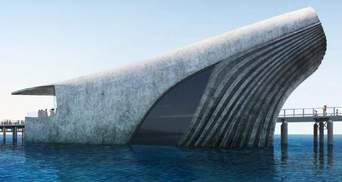 В Австралии построят частично подводную морскую обсерваторию в виде огромного кита: фото