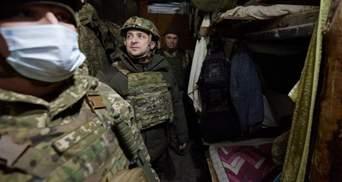 В десятках метров от линии соприкосновения: Зеленский с послами стран Запада посетил Донбасс
