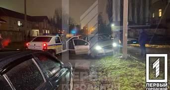 В Кривом Роге водитель легковушки перерезал себе артерию и направил машину в столб: фото