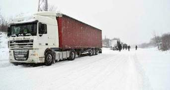 Из-за непогоды на 2 трассах Львовщины запретили движение грузовиков