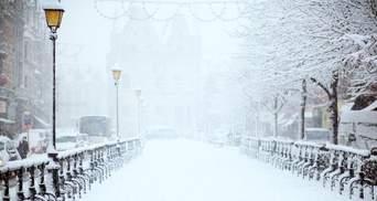 Киев накрыли снегопады: фото, видео