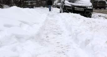 В каких областях Украины больше всего намело снега: синоптики показали карту