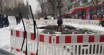На лівому березі Києва прорвало водопровід: де обмежений рух – фото, відео