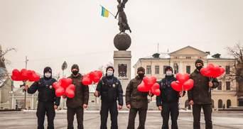 Нацгвардійці влаштували флешмоб до Дня Валентина: фото