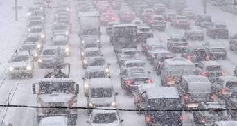 Утром 15 февраля Киев парализовали пробки: онлайн-карта