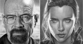 Художник малює портрети зірок олівцем – їх не відрізниш від фотографії: неймовірні світлини
