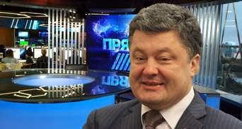 """Сложные отношения Порошенко и """"Прямого"""": експрезидент спас свой телеканал"""