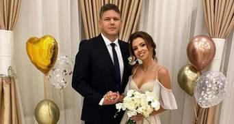 """Настя Зінченко """"з Уханю"""" зробила однакові тату з коханим в день одруження: нові фото з весілля"""