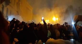 У Києві на протестах через вирок Стерненку сутички: є потерпілі