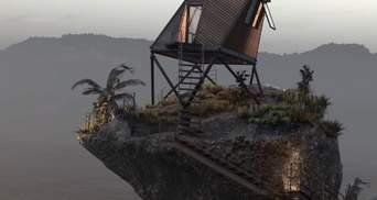На краю прірви: дивовижна хатинка на палях біля океану – фото