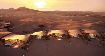 Дивовижний відпочинок у пустелі: казковий готель у піщаній дюні Саудівської Аравії
