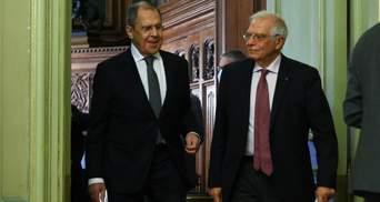 Навальний і каталонці: про що Боррель говорив на закритій зустрічі з Лавровим