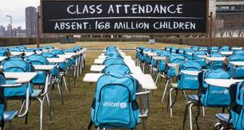 Понад 168 мільйонів дітей у світі не ходили до школи майже рік через коронавірус, – ЮНІСЕФ