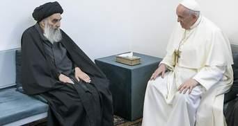 Історична зустріч: Папа Римський провів перемовини з лідером шиїтів Іраку