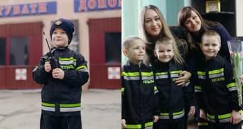 """Маленькие """"спасатели"""" поздравили женщин на Ровненщине с праздником: трогательное видео"""