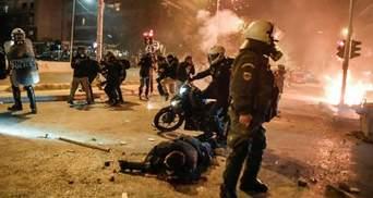 В Афинах протесты против произвола полиции переросли в жесткие столкновения: видео
