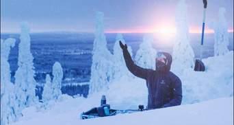 Холодный сет: диджей устроил вечеринку на заснеженных холмах Лапландии – увлекательное видео