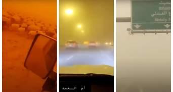 Мощная песчаная буря накрыла ОАЭ и Саудовскую Аравию: видео