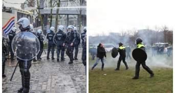 Протесты в Бельгии и Нидерландах: полиция применила водометы и газ
