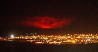 """Возле столицы Исландии началось извержение вулкана, который """"спал"""" 6 000 лет: фото, видео"""