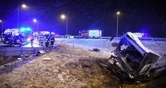 В Польше прокомментировали 2 аварии с украинскими автобусами на том же участке дороги