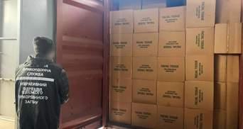 Сигарети замість серветок: прикордонники виявили контрабанду на 20 мільйонів гривень