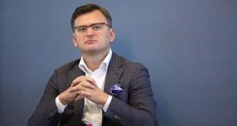 Кулеба призвал Макрона убедить Путина начать переговоры по Донбассу