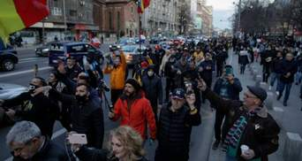Кидались камнями и бутылками: антикарантинные протесты в Румынии переросли в беспорядки