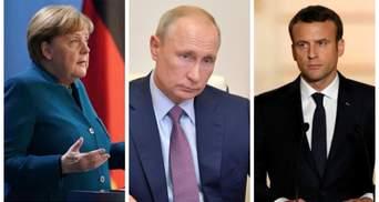 Про Донбас без Зеленського: Меркель та Макрон прокоментували розмову з Путіним
