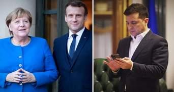 Зеленський, Макрон і Меркель обговорять Донбас без Путіна, – ЗМІ