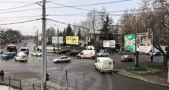 В Івано-Франківську сталась потрійна ДТП з патрульною автівкою