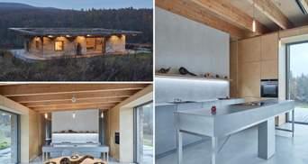 Фермерський дім для відпочинку: що вийшло із конопельних стін та зеленого даху